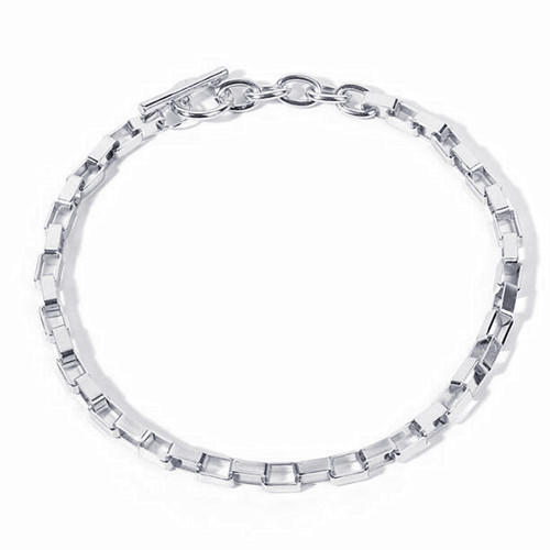 Vintage women fashion accessories OEM silver box chain choker necklace wholesale