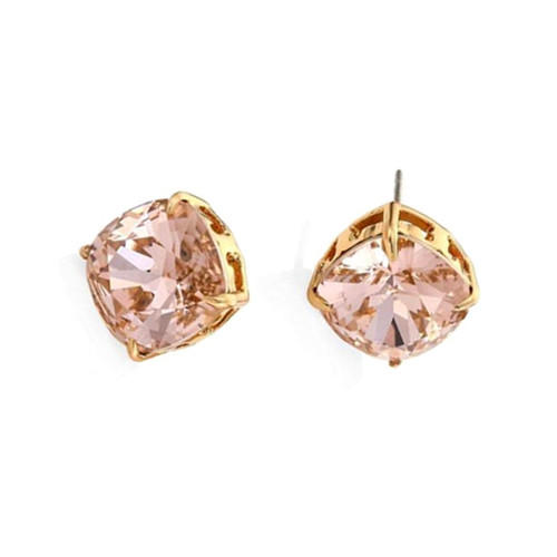 Square zircon fine jewels wholesale simple design crystal studs earrings