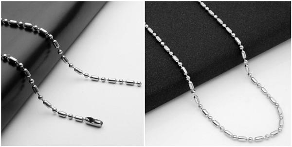 China Bamboo bead ball chains for gemstone necklace in sterling silver wholesale