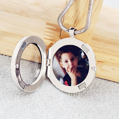 Personal photo jewelry supplier locket pendant factory in 925 sterling silver wholesale china