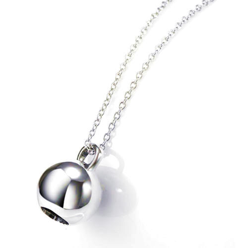 S925 sterling silver jewelry big hollow silver bead pendant necklace for women wholesale fashion necklaces