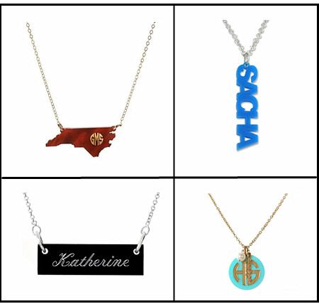 Custom made diamonds script jewellery factory personalized initails charm necklace company wholesale china