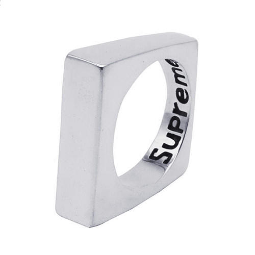 Square mens jewelry unisex vintage geometric shape ring in 925 sterling silver for women
