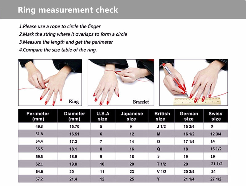 How to measure and buy a perfect personalised wedding diamond ring for her in sterling silver online