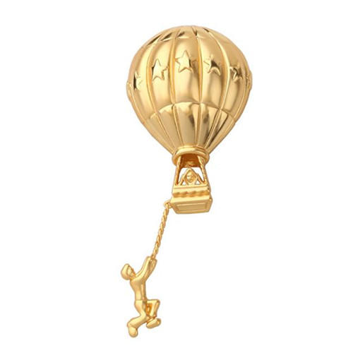 OEM/ODM French style brass brooche ssupplier vintage hot air balloon breastpin wholesale manufacturer china