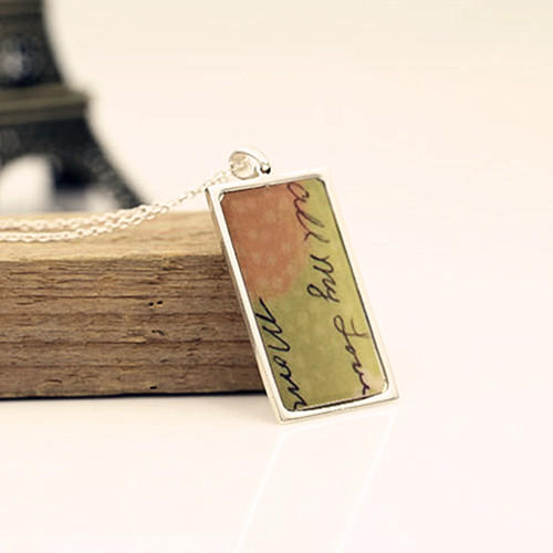 DIY accessories engraved photo pendant custom made any name 925 silver jewellery