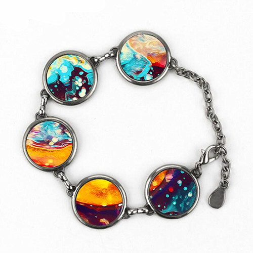 Customized thermal transfer printing picture jewelry wholesale photo charm bracelets