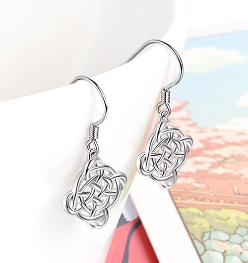 Sterling Silver Celtic Knot Earrings for women