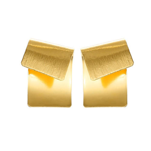 Fashion boutique brass jewellery creative earrings for women in silver and gold