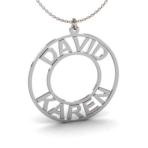 14k gold plated custom made any name plate circle pendant necklaces personalized jewellery wholesale