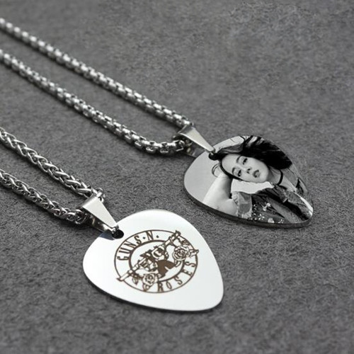 Personalized picture jewelry in stainless steel wholesale text name engraving necklace