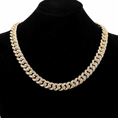 Full mirco cubic zirconia setting copper jewelry 12mm CZ chunky chain mens cuban choker necklaces