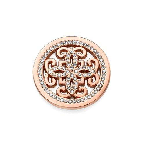 Personalized flower shaped hollow out pendant supplier wholesale rose gold plating CZ fine jewelry factory manufacturer China