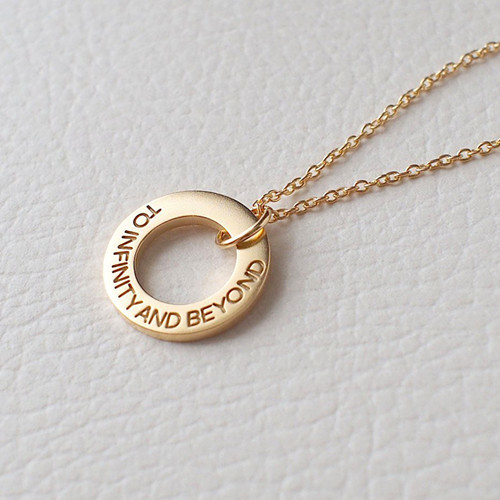 Gold open circle pendant jewelry hammered layering necklace mother in law gifts personalized kids name necklace family necklace