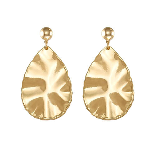 Big fashion creative jewelry OEM new design drop earrings in gold and silver