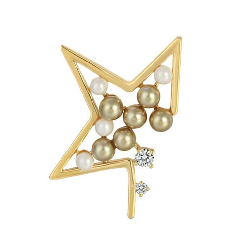 Geometric shape clothing boutique jewels accessories fashion pearls zircon brooches