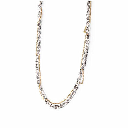 Two-tone new fashion double chains choker necklaces rhodium plating jewelry