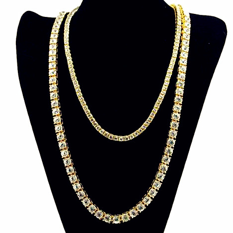 Wholesale hiphop mens jewelry iced out crystal CZ tennis chain choker necklace