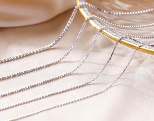 Personalized box chain necklace OEM manufacturer different chain types wholesale china