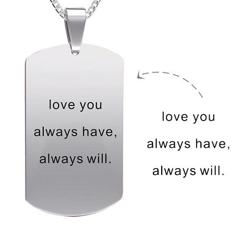 S925 sterling silver colorful photo necklace dogtags image pendant with text words name engraved