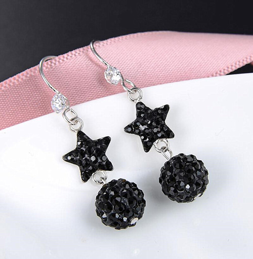 Sterling silver tar and sun charm earrings party jewelry wholesale