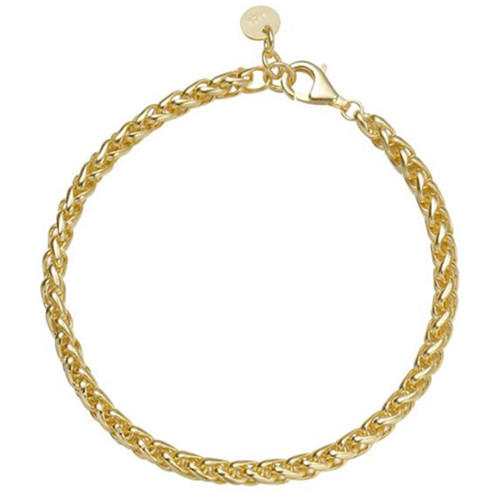 Creative real gold plated fine jewellery 925 silver chunky chain bracelets