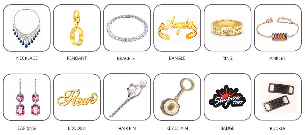 Manufacture process for personalized jewellery in 925 silver or stainless steel or brass jewelry factory