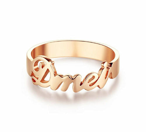 Gold filled custom made couple name rings custom promise rings for guys wholesale china online