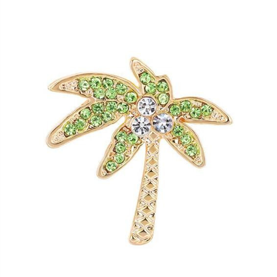 Trendy fashion jewelry delicate pineapple coconut tree brooches for women