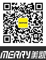"Open wechat scan QR code, pay attention to ""MERRY美凯"" WeChat Official Account"