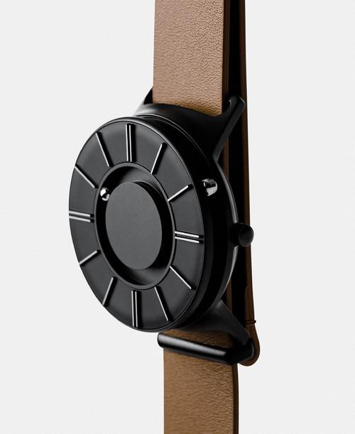 EONE 新款APEX系列 APEX-L-TAN 陶瓷表盘棕色皮带 触感设计腕表