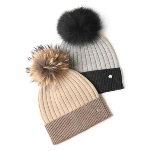 100% Pure Cashmere Hat | BR8228-2 | 2 Colors