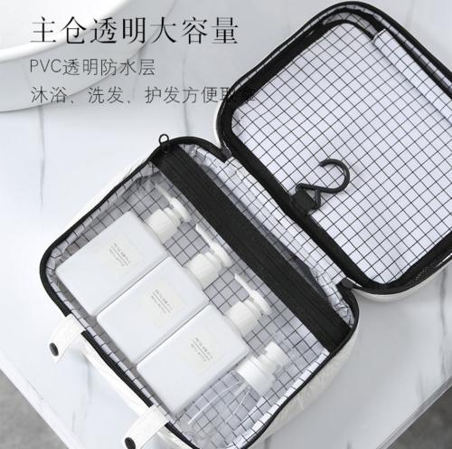 Ptravel 源头厂家跨境专供批发防水大容量洗漱包 双层化妆包现货