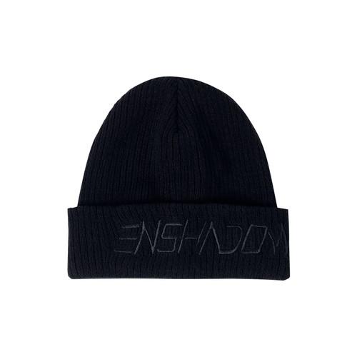 ENSHADOWER隐蔽者基础款包头刺绣帽保暖加厚毛线帽套头针织冷帽男