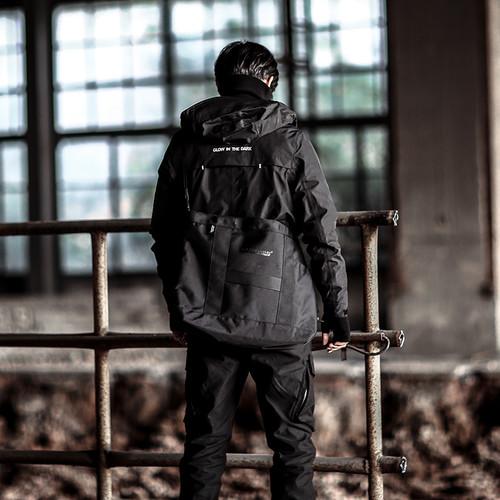 ENSHADOWER隐蔽者春装压胶机能冲锋衣男黑色战术服连帽国潮外套