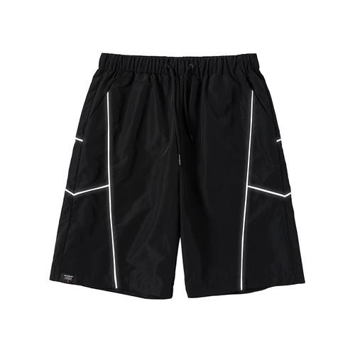 ENSHADOWER隐蔽者夏季潮牌反光条短裤男国潮宽松中裤机能五分裤