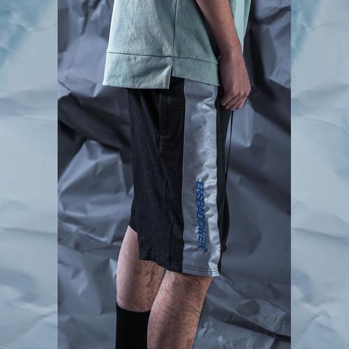 ENSHADOWER隐蔽者潮牌反光刺绣拼接棉短裤运动休闲五分裤篮球短裤