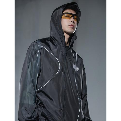 ENSHADOWER隐蔽者夏季户外防晒衣男弧形反光条皮肤衣透气连帽上衣