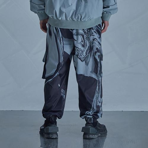 ENSHADOWER隐蔽者潮牌暗影印花休闲男士长裤直筒宽松工装束脚裤子