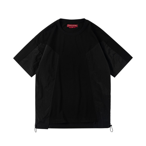 ENSHADOWER隐蔽者潮流金属链条印花短袖T恤男宽松黑色半袖上衣夏