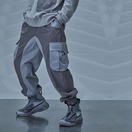 ENSHADOWER隐蔽者机能风单飘带束脚裤男潮流工装拼接休闲裤运动裤