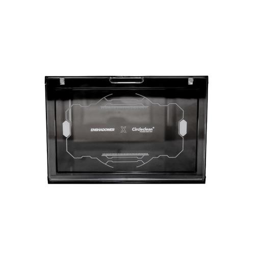 ENSHADOWER隐蔽者CIRCLECLEAN联名鞋盒黑色透明鞋柜篮球鞋收纳盒