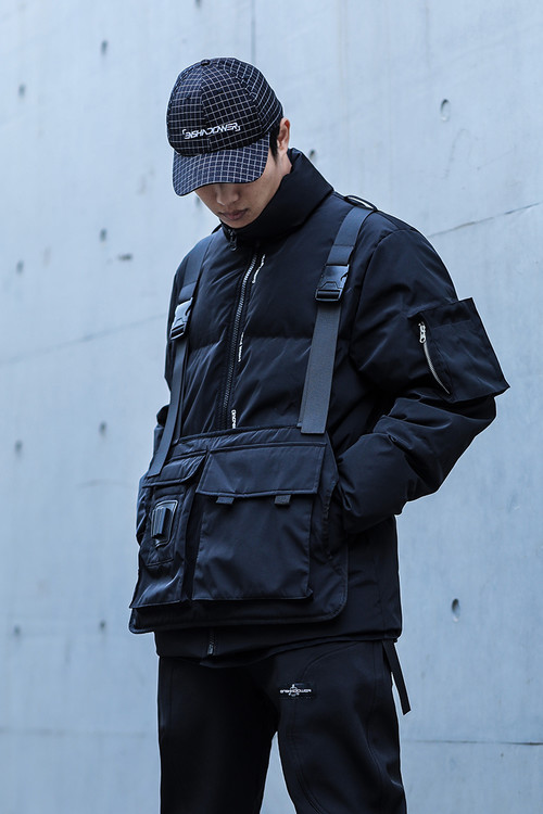 ENSHADOWER隐蔽者新款工装战术可拆卸羽绒服冬装加厚宽松羽绒衣男