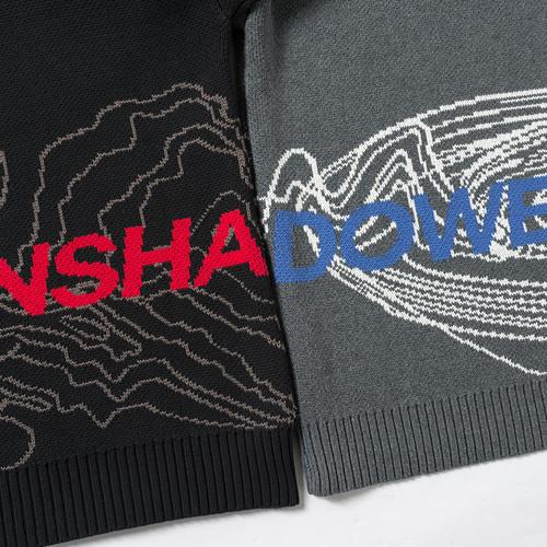 ENSHADOWER隐蔽者潮流等高线印花重磅高领毛衣宽松休闲男士针织衫