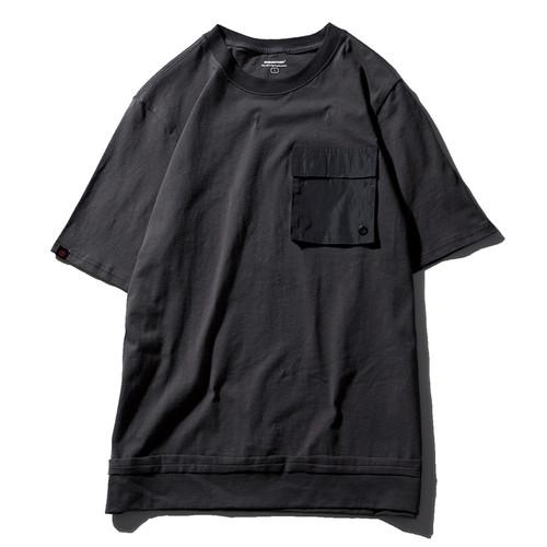 ENSHADOWER隐蔽者机动印花短袖男潮牌黑色纯棉T恤机能口袋体恤