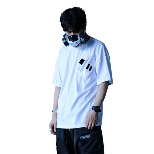 ENSHADOWER隐蔽者夏潮牌双口袋短袖T恤纯棉宽松圆领情侣打底衫男