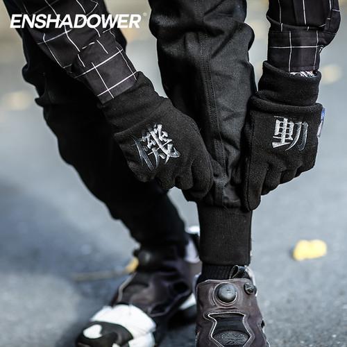 ENSHADOWER隐蔽者摇粒绒印花保暖手套
