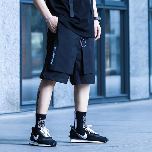 ENSHADOWER隐蔽者国潮简款双层短裤男宽松五分裤休闲工装运动中裤