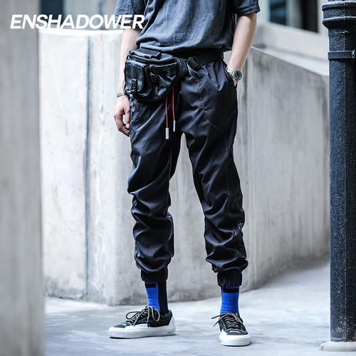 ENSHADOWER隐蔽者轻薄潮牌机能束脚裤男宽松小脚裤国潮工装休闲裤