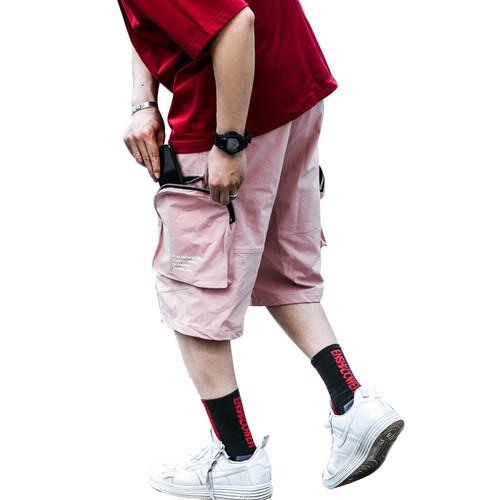 ENSHADOWER隐蔽者五分裤男立体多口袋拉链短裤男宽松运动机能中裤